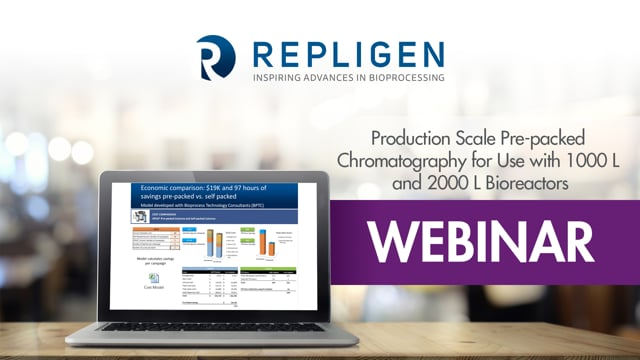 Webinar: Production Scale Pre-packed Chromatography for Use with 1000 L and 2000 L Bioreactors