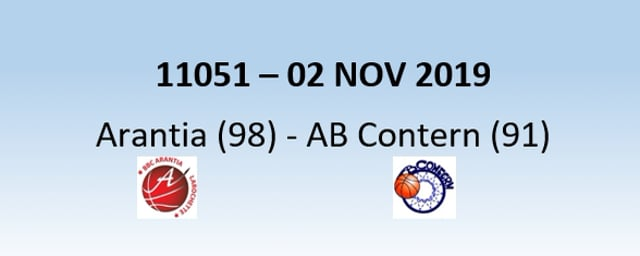 N1H 11051 Arantia Larochette (98) – AB Contern (91) 02/11/2019