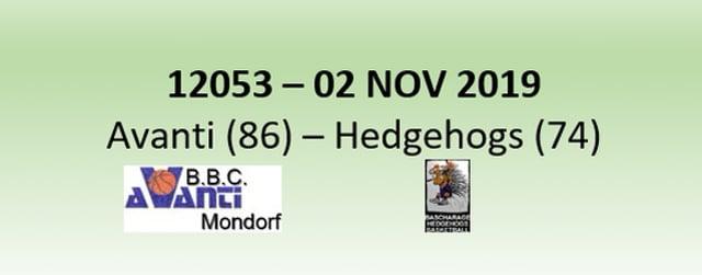 N2H 12053 Avanti Mondorf (86) - Hedgehogs Bascharage (74) 02/11/2019