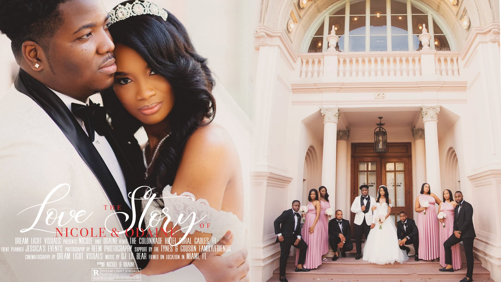 The Love Story of Nicole & Odaine | Colonnade Hotel in Coral Gables, FL