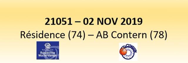 N1D 21051 Résidence Walferdange (74) - AB Contern (78) 02/11/2019