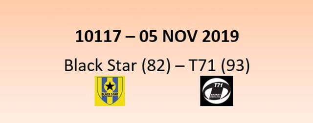 CUP 10117 Black Star Mersch (82) - T71 Dudelange (93) 05/11/2019