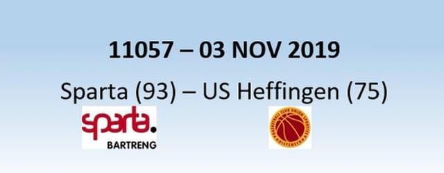 N1H 11057 Sparta Bertrange (93) - US Heffingen (75) 03/11/2019