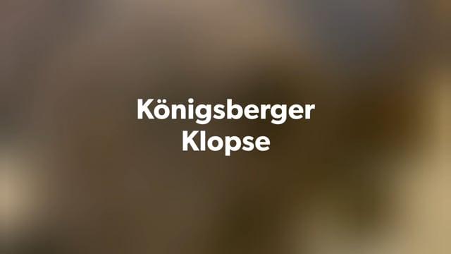 Königsberger Klopse mit Rote-Bete-Salat