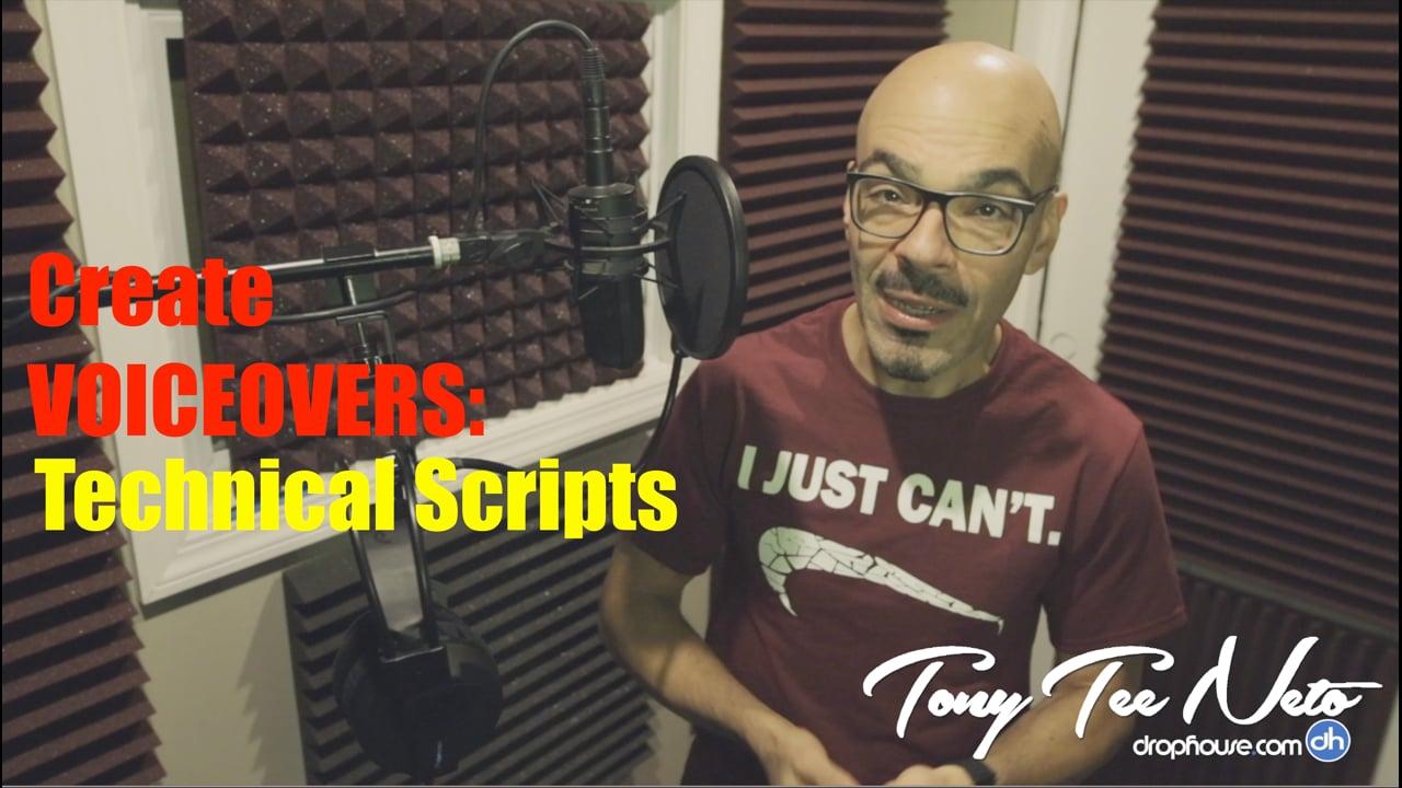 Create Drops & Voiceover -Technical Script- DropHouseVO Behind The Mic -Tony Tee Neto DropHouseVObtm