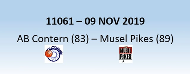 N1H 11061 AB Contern (83) - Musel Pikes (89) 09/11/2019