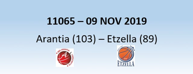 N1H 11065 Arantia Larochette (103) – Etzella Ettelbruck (89) 09/11/2019