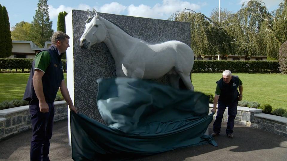 Invincible Spirit Unvailing at the Irish National Stud