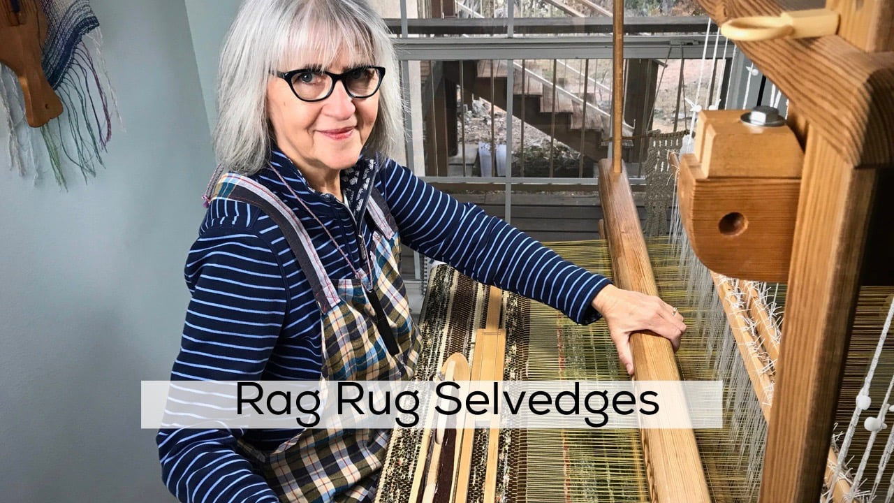 Quick Tip for Rag Rug Selvedges