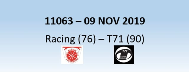 N1H 11063 Racing Luxembourg (76) - T71 Dudelange (90) 09/11/2019
