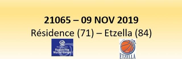 N1D 21065 Résidence Walferdange (71) - Etzella Ettelbruck (84) 09/11/2019