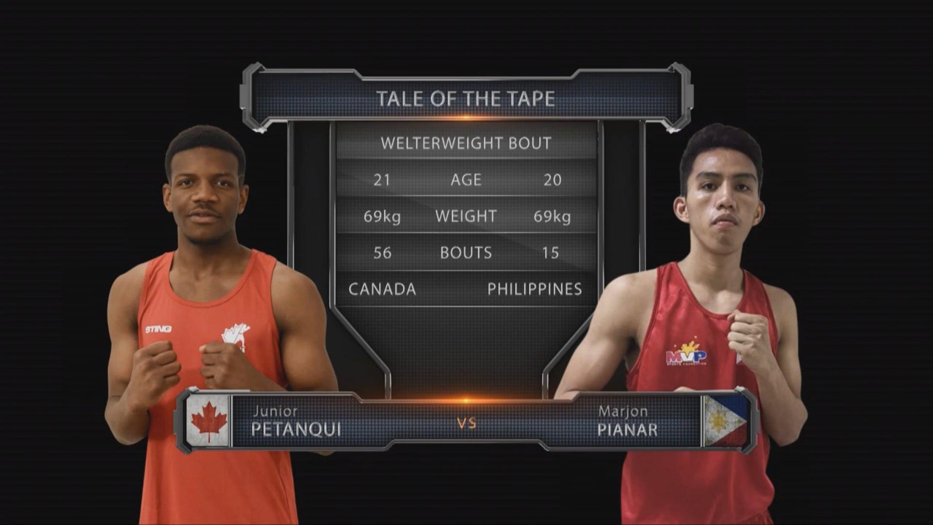 Junior Petanqui (CAN) vs Marjon Pianar (PHL)