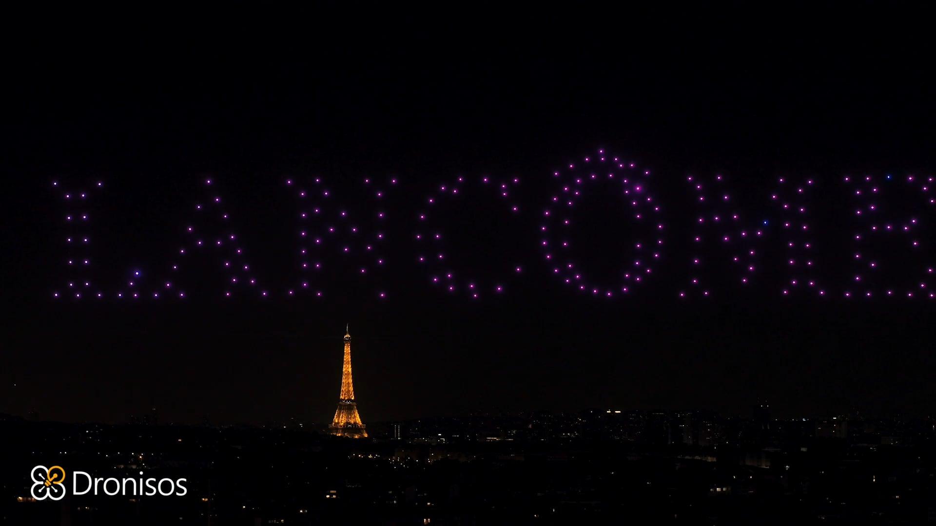 Paris drone show making of