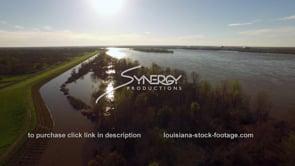 1483 Mississippi River levee aerial at flood stage