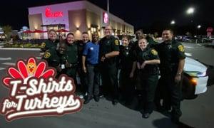 Polk County Sheriff's Deputies Show Up to T-Shirts for Turkeys!