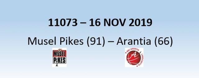 N1H 11073 Musel Pikes (91) - Arantia Larochette (66) 16/11/2019