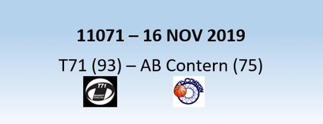 N1H 11071 T71 Dudelange (93) - AB Contern (75) 16/11/2019