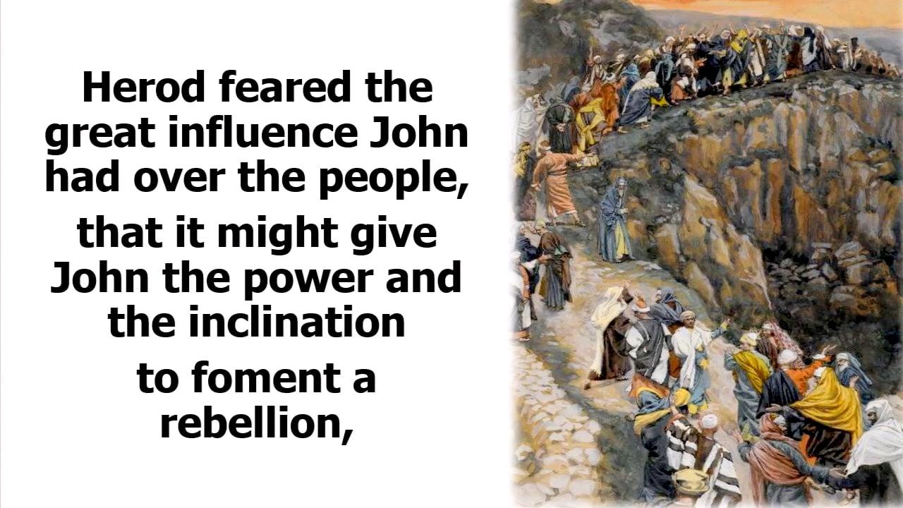 The Ministry of John the Baptist