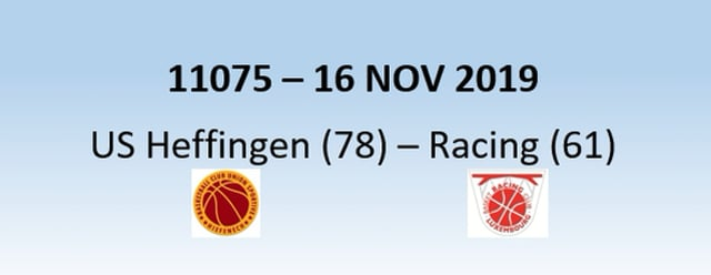 N1H 11075 US Heffingen (78) - Racing Luxembourg (61) 16/11/2019