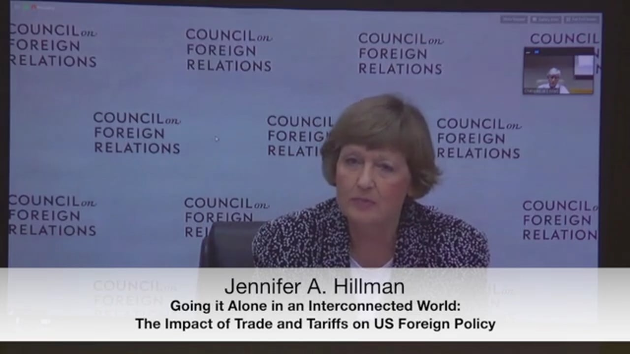 The Impact of Trade and Tariffs on US Foreign Policy with Jennifer Hillman