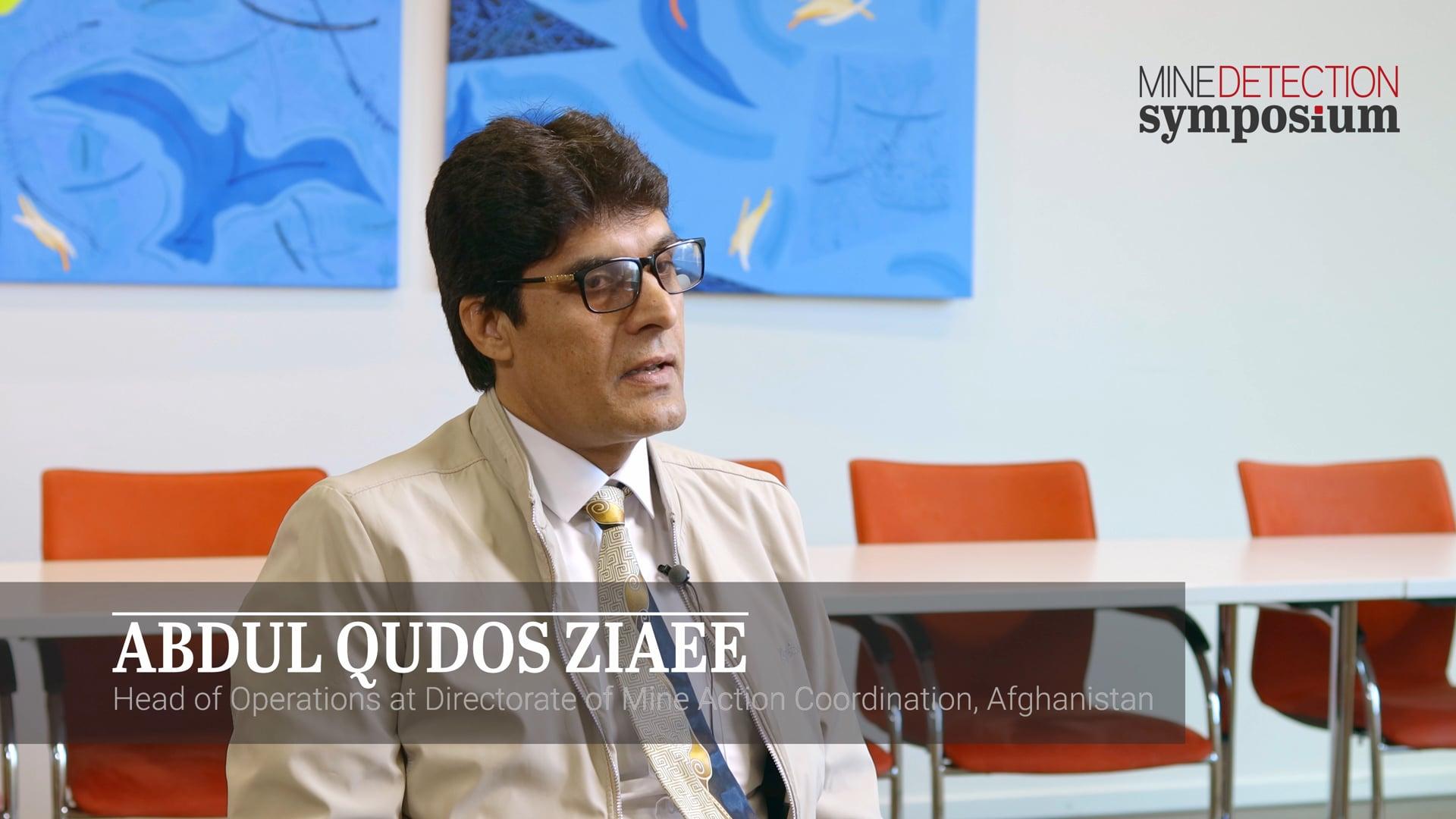 Abdul Qudos Ziaee - Symposium - Mine Detection Symposium 2019