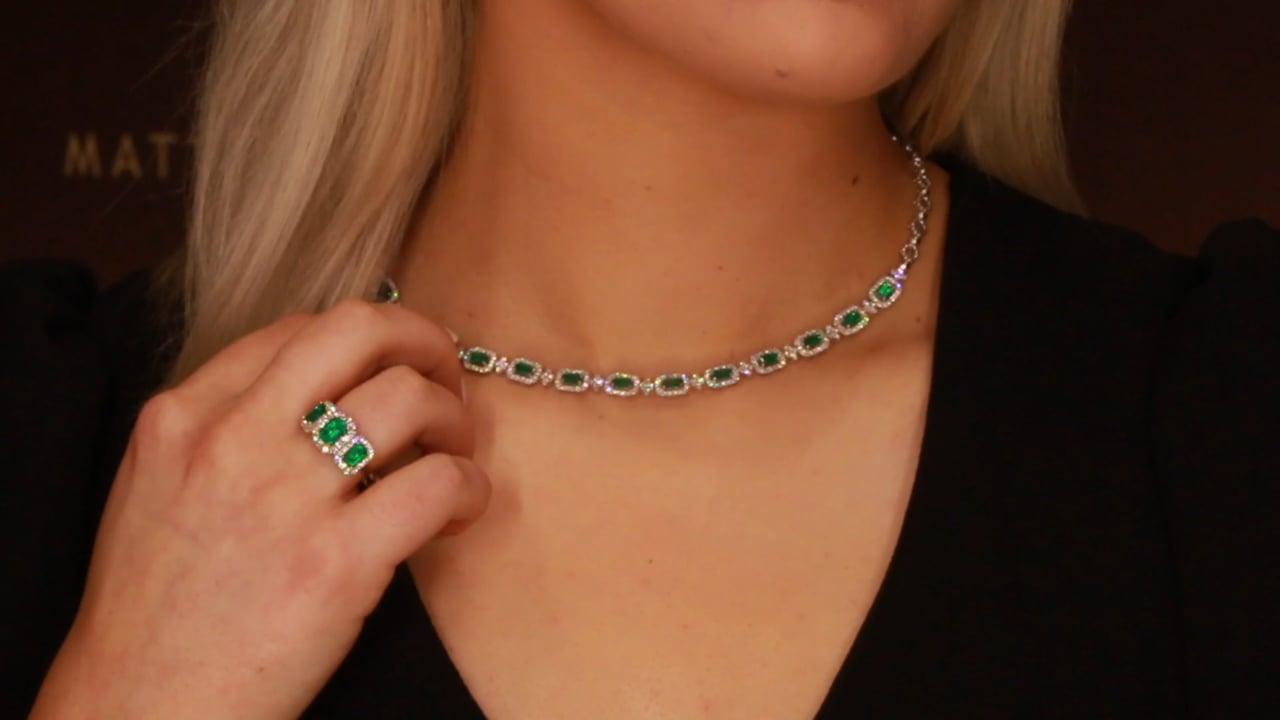F1 - Emerald & Diamond Jewellery