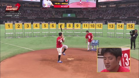 【ホークス・ファンフェスティバル2019】バットコントロール対決 2019/11/24