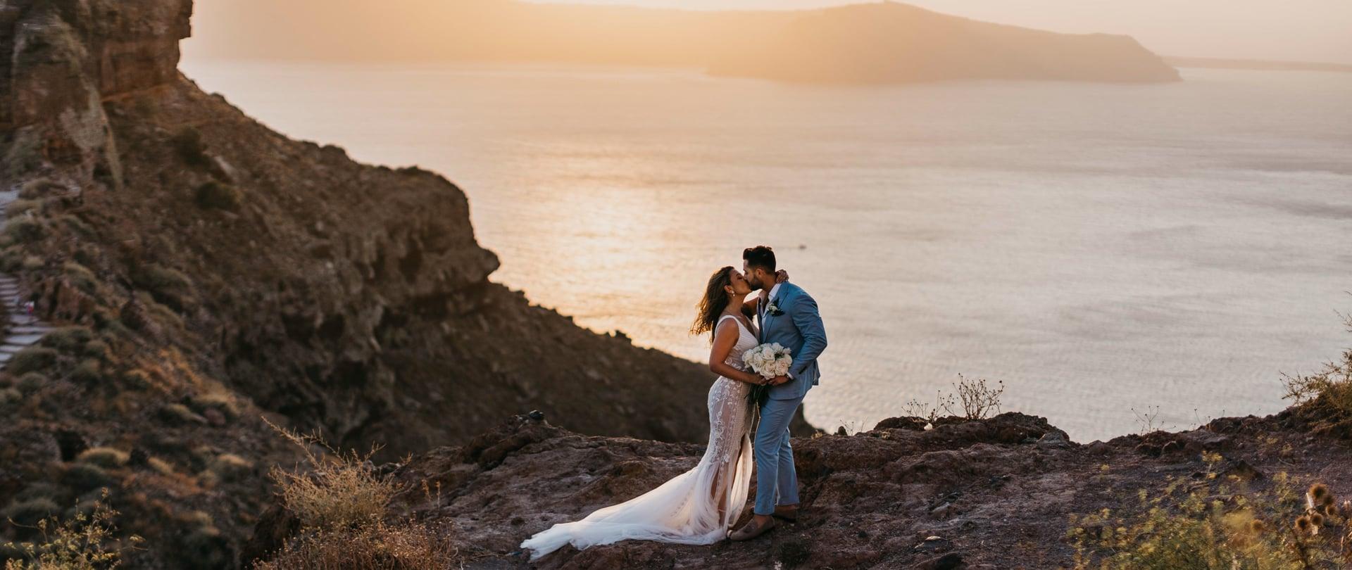 Katerina & Daniel Wedding Video Filmed at Santorini, Greece