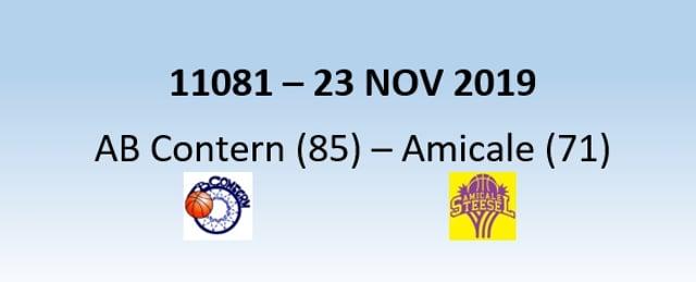 N1H 11081 AB Contern (85) - Amicale Steinsel (71) 23/11/2019