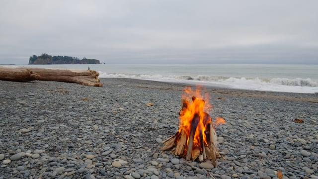 Campfire Rialto Beach - Nature Soundscapes
