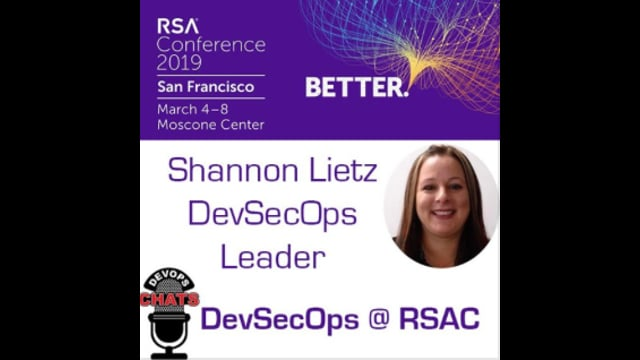 EP 162: The DevSecOps Scene at RSA Conference 2019 w Shannon Lietz