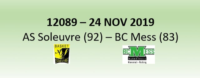 N2H 12089 AS Soleuvre (92) - BCMess (83) 24/11/2019