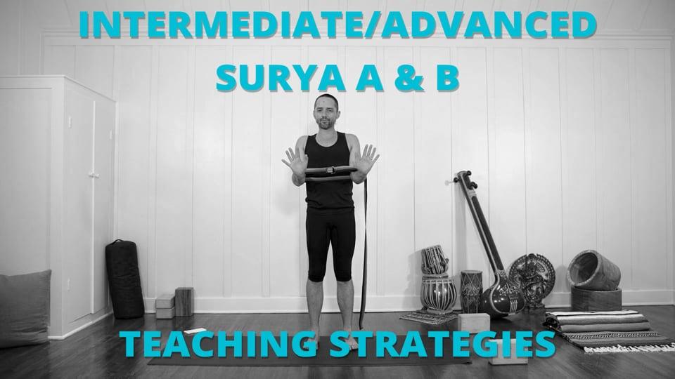 Intermediate/Advanced Surya A & B Teaching Strategies