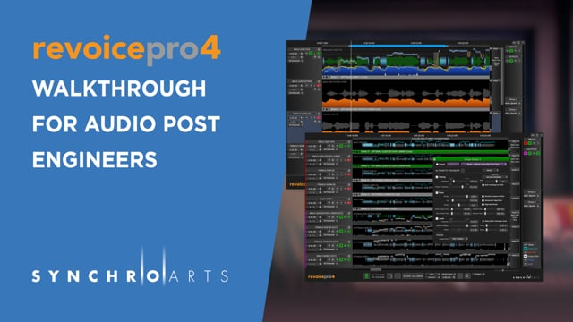 Post Production Using Revoice Pro 4