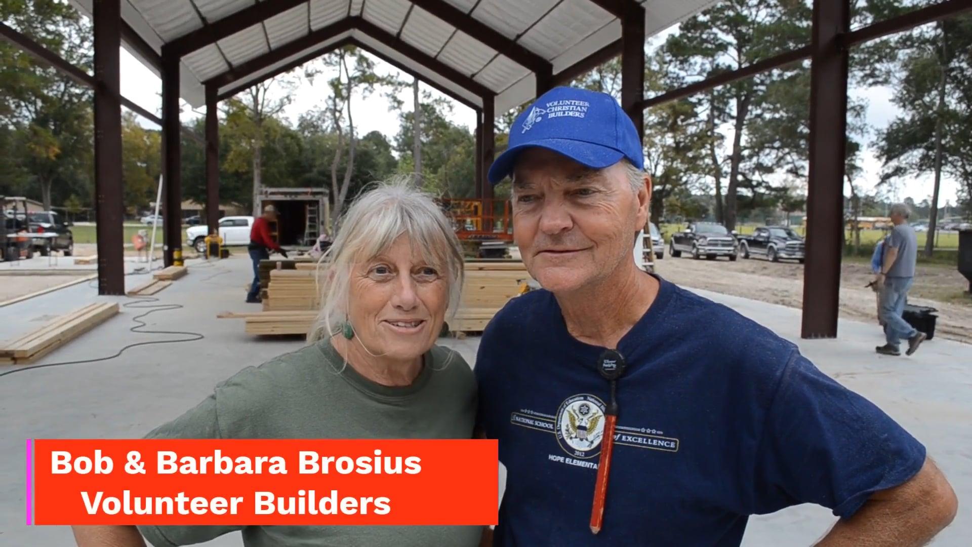 Bob and Barbara Brosius Testimony