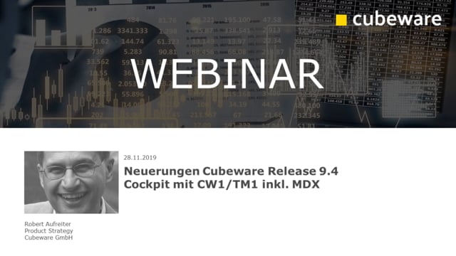 Neuerungen in Cubeware Release 9.4 - Cubeware Cockpit CW1/TM1 inkl. MDX