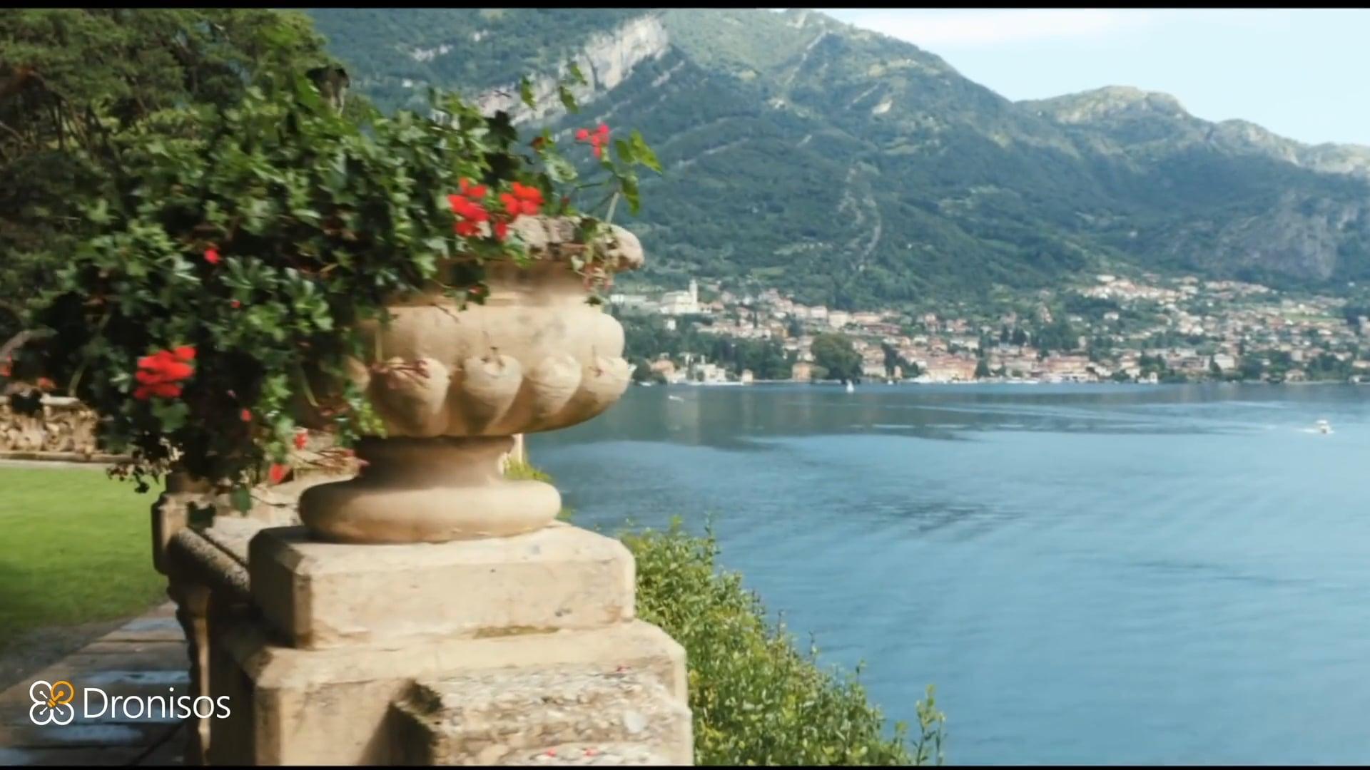 Drone show for a wedding at Villa Balbianello, Lake Como, Italy