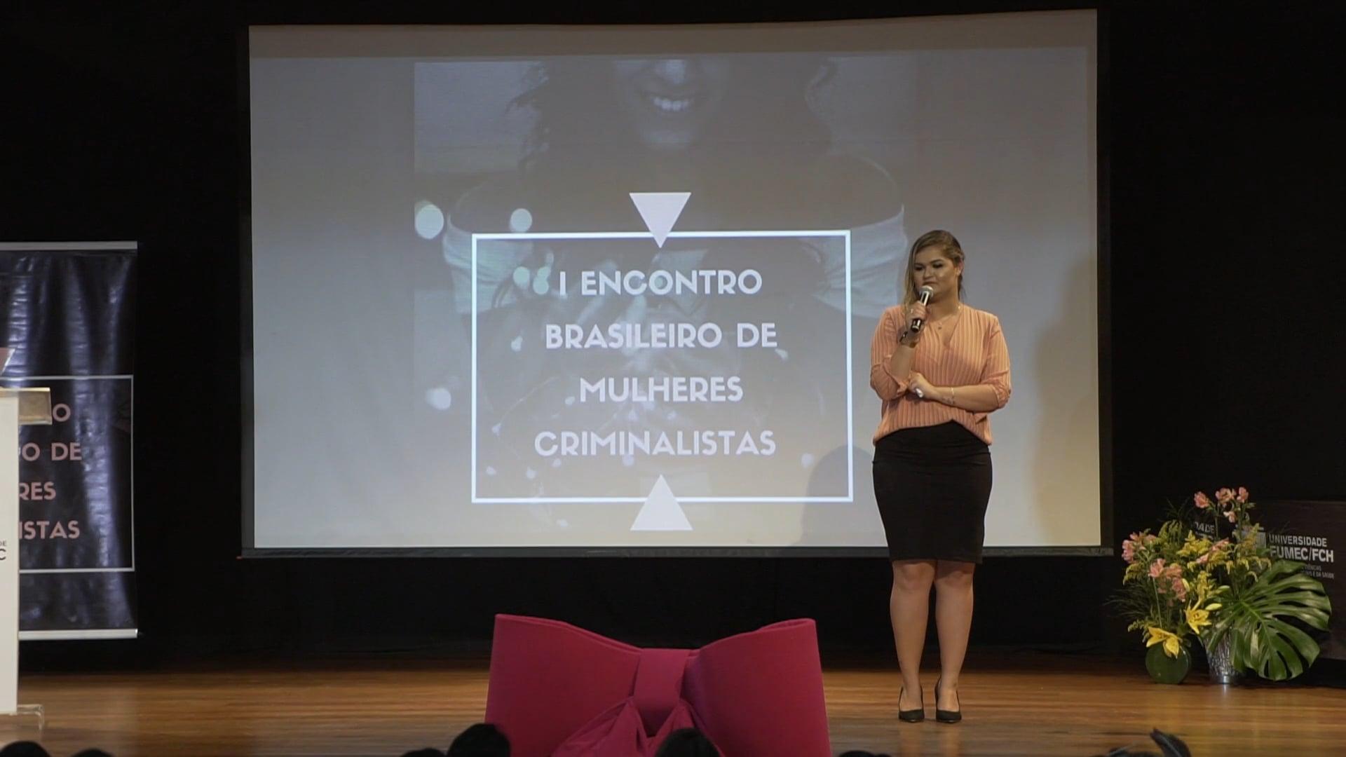 1º Encontro Brasileiro de Mulheres Criminalistas | Dr Brenda