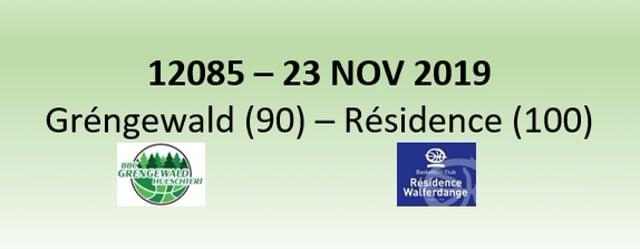 N2H 12085 Gréngewald Hueschtert (90) - Résidence Walferdange (100) 23/11/2019
