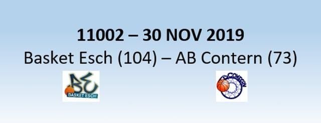 N1H 11002 Basket Esch (104) - AB Contern (73) 30/11/2019