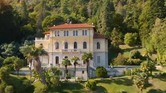 Villa Volpi and its Art Nouveau style with its giant park