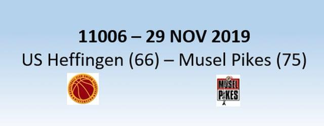 N1H 11006 US Heffingen (66) - Musel Pikes (75) 29/11/2019