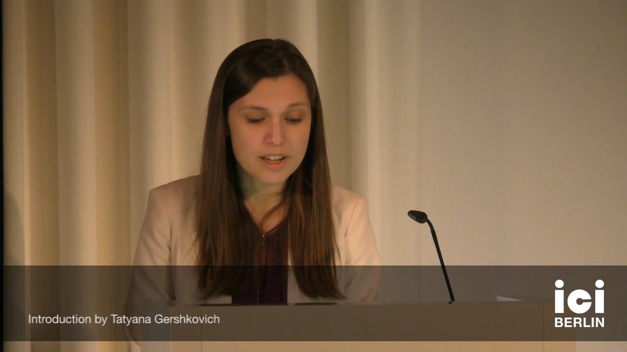 Introduction by Tatyana Gershkovich