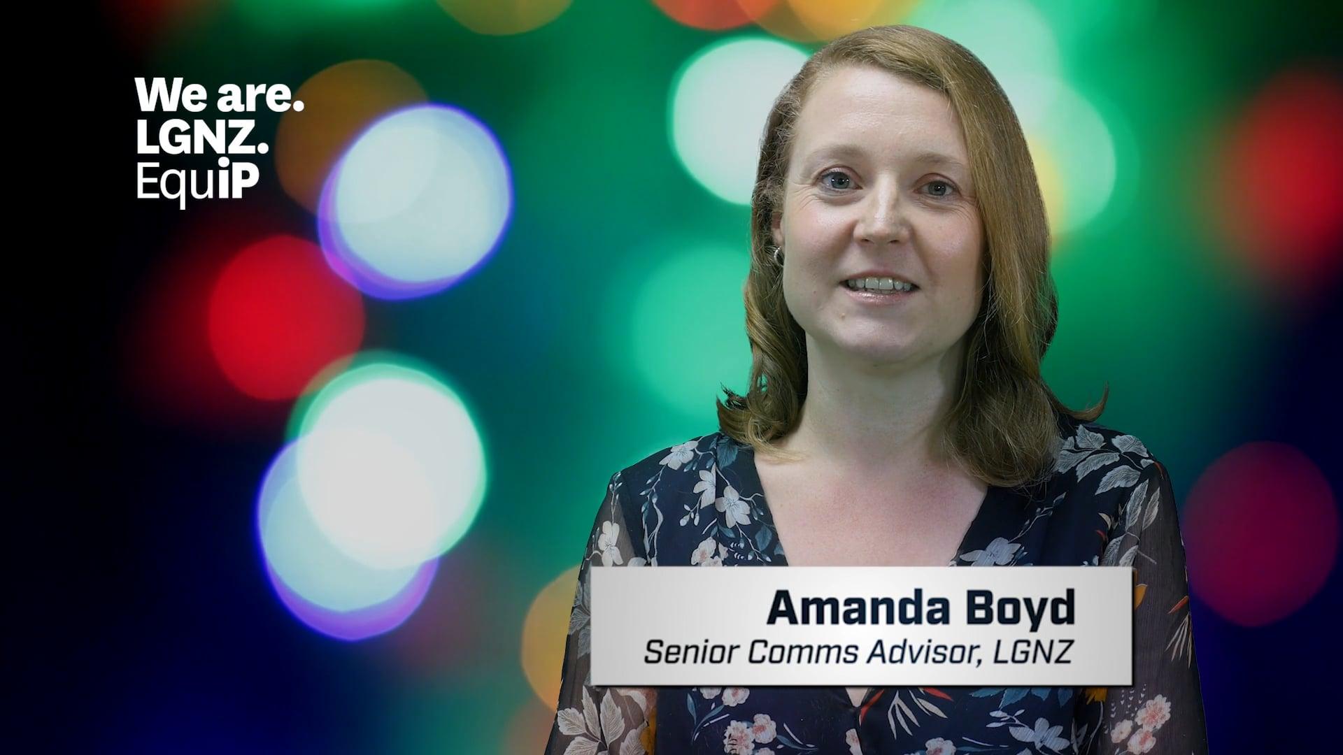 Amanda Boyd, Senior Communications Advisor, LGNZ