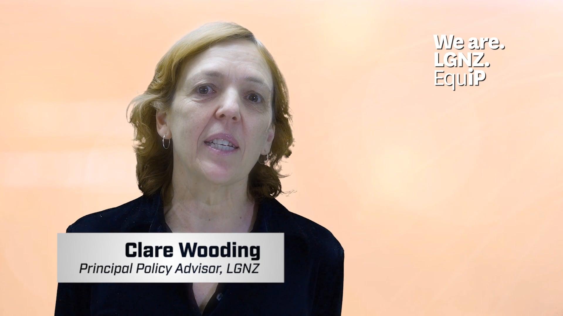 Clare Wooding, Principal Policy Advisor, LGNZ