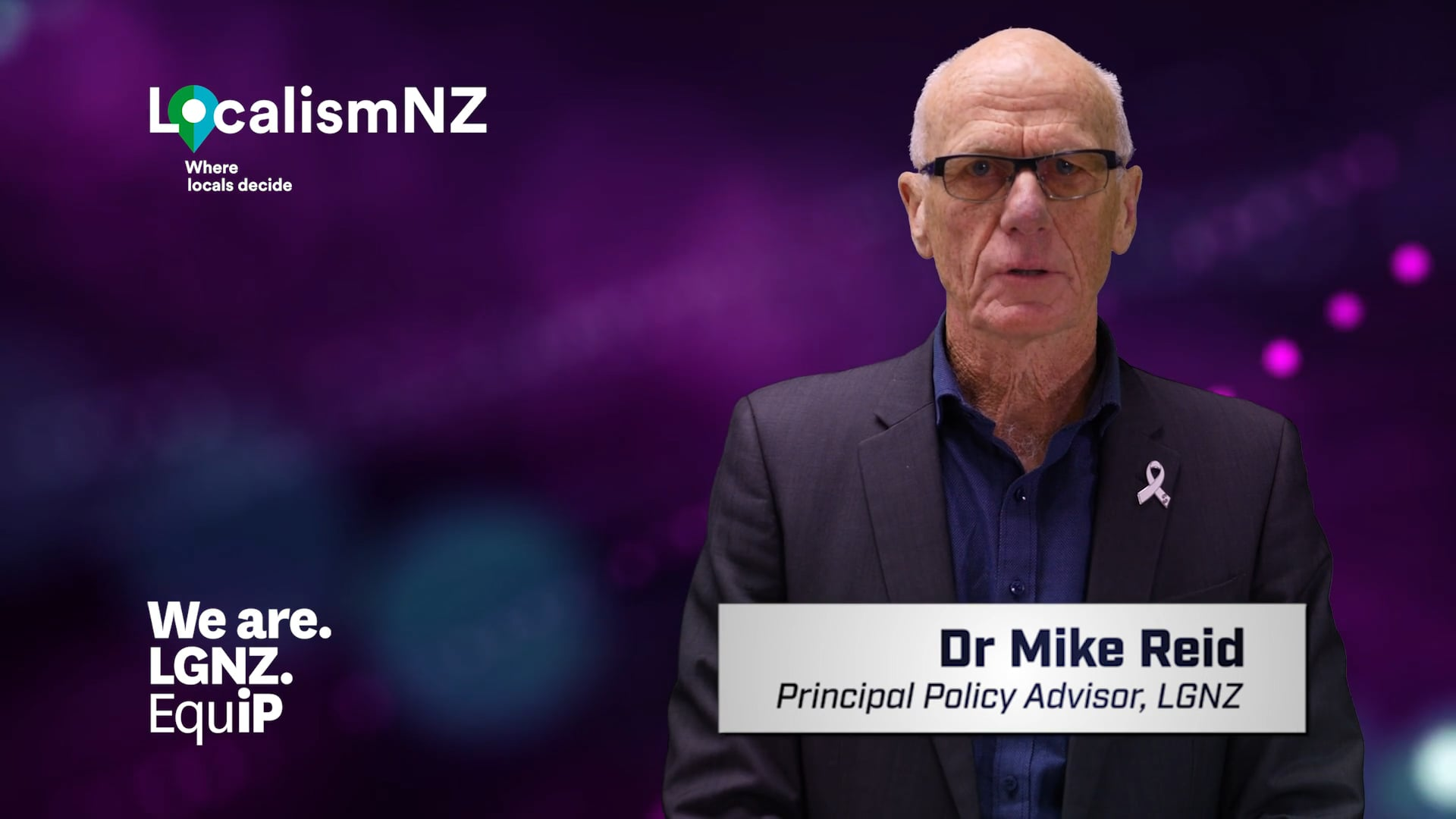 Dr Mike Reid, Principal Policy Advisor, LGNZ