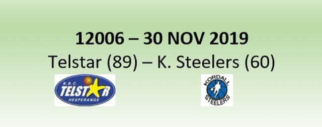 N2H 12006 Telstar Hesperange (89) - Kordall Steelers (60) 30/11/2019