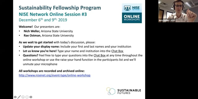 Sustainability - Cohort A online session 3a