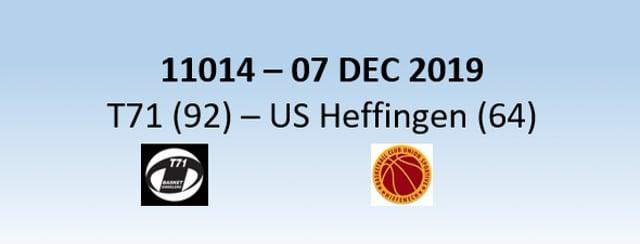 N1H 11014 T71 Dudelange (92) - US Heffingen (64) 07/12/2019