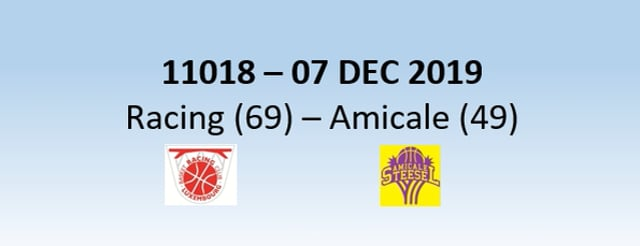 N1H 11018 Racing Luxembourg (69) - Amicale Steinsel (49) 07/12/2019